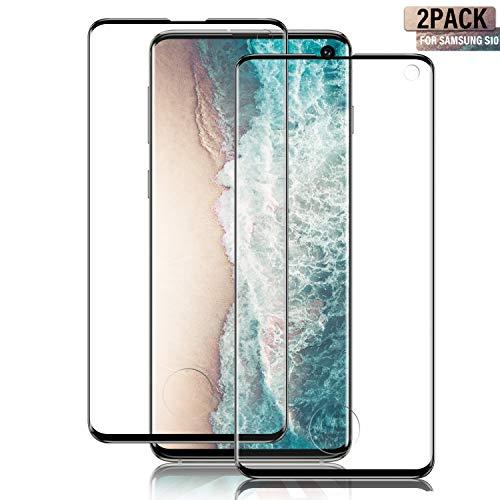 SGIN - Pellicola proteggi schermo per Samsung Galaxy S10, ad alta definizione, antigraffio, senza bolle, colore: Nero