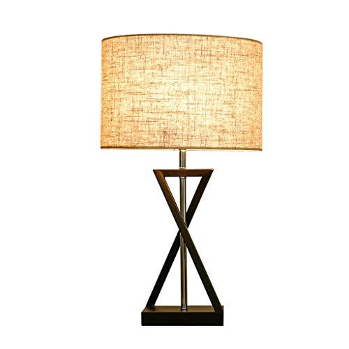 TQQ Lámpara de Mesa Salón Grande Dormitorio lámpara de cabecera nórdica Creativa Americana lámpara de Mesa de Noche Lámpara de Mesa de Noche Led