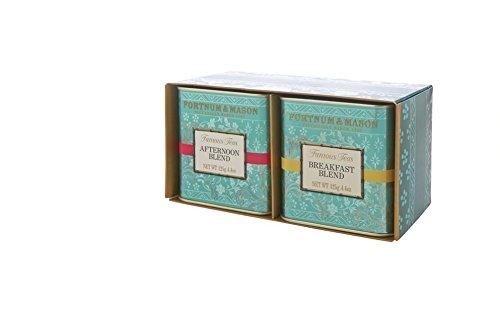 ForTNUM and MASON Fortnum's Famous Teas – Breakfast Blend & Afternoon Blend – 2 botes de 125 g – Set de regalo