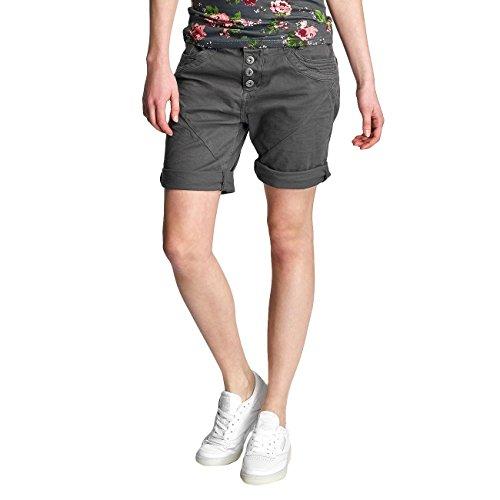 Urban Surface Damen Stoff Bermuda Shorts aus Stretch-Twill Dark-Grey M