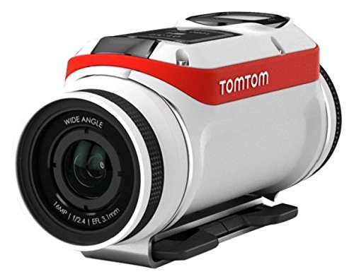 Tomtom Bandit Aventura Pack - Cámara deportiva de acción aventura ( Video 4K, 16 MP, 1080p/60 fps, 720p/120 fps, GPS¨), sensor integrado, impermeable, Wi-Fi, color blanco-rojo