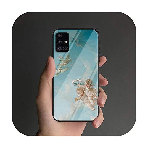 Little Angel - Funda de cristal templado para Samsung Galaxy S Note 5 6 9 10 10E 20 21 FE Plus Uitra Prime Fashion Soft-5-Galaxy Note 9
