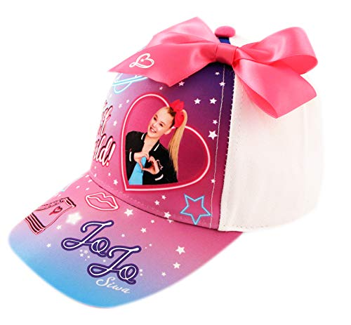 Nickelodeon Little Kids Hat, JoJo Baseball Cap for Girls Ages 4-7, White/Pink
