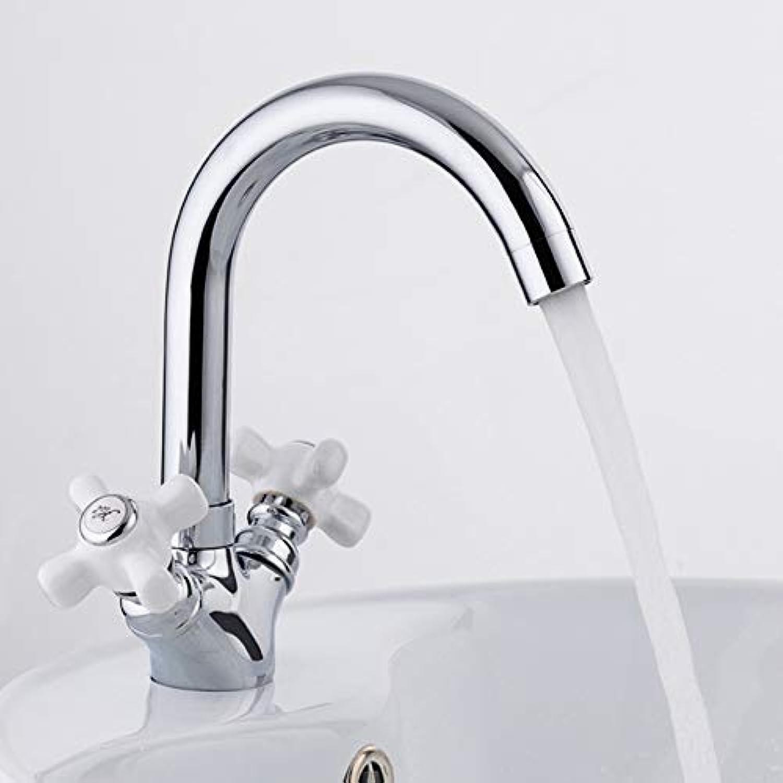 Ayhuir Deck Montiert Dual Griff Bad Becken Chrom Wasserhahn Bad Waschbecken Waschbecken Heien Und Kalten Wasser Mischer
