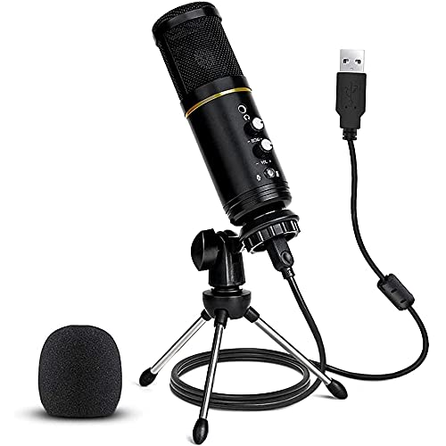 USB Microphone, USB Microphone for Computer, USB Microphone for PC, Recording, Streaming, Gaming...