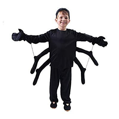Spider Costume for Kids, Perfect for Halloween, Animal Dress up Party, Black(S/3-4Y) from