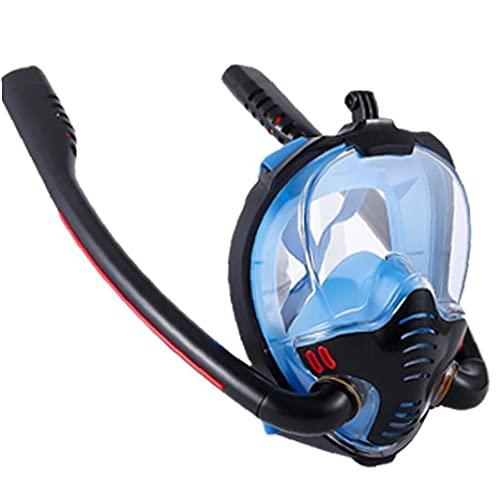 Onsinic K3 Doble Tubo De Silicona De Snorkel Máscara Anti-vaho Y Anti-Fugas De La Llena Completa Seca Máscara De Buceo Tubo De Buceo con Alta Definición De La Lente