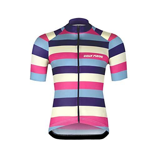 UGLY FROG Ropa Ciclismo Camisa Chaleco Verano para Hombre Conjunto de Ciclismo Jersey Maillot y Culotte Pantalones Cortos DXMH03