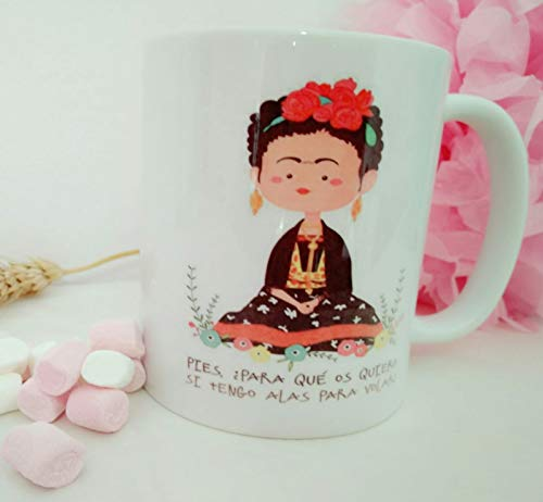 adaysusdetalles Taza Frida Kahlo Ceramica Desayuno Cafe