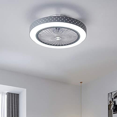 YIWEN Ventilador De Techo LED Moderno con Luz De Techo con Ventilador Oculto Silencioso Regulable con Lámpara De Techo De Dormitorio con Control Remoto
