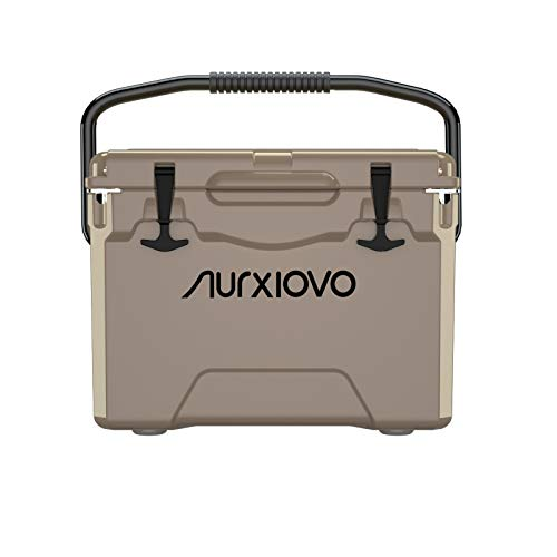 Nurxiovo Portable Cooler 25QT Ice Chest Coolers Keeps Ice up to 7 Days Ideal for Camping, Hiking, Picnic, BBQs, Fishing, Traveling, Outdoor Activities, Polyethylene, Grass Yellow