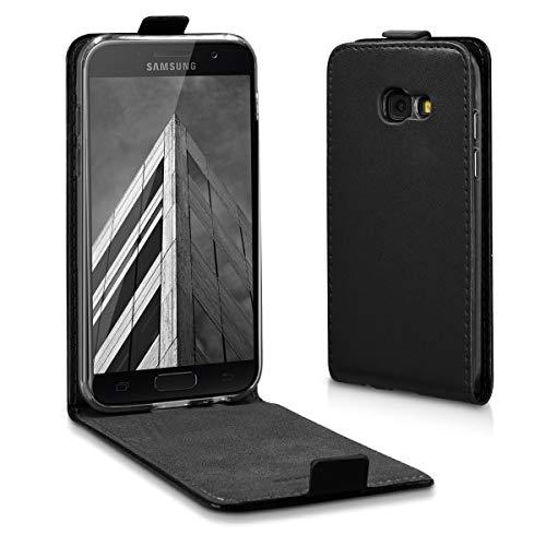 kwmobile Hülle kompatibel mit Samsung Galaxy A3 (2017) - Handy Case Handyhülle - Flip Schutzhülle in Schwarz
