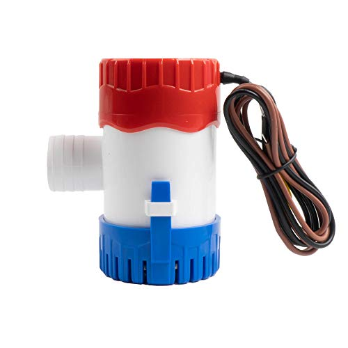 Sanuke 1100gph Bilge Pump Electric 12V for Boat Submersible Marine Water Pump Accessories Marin Boat,Water Pump Low Noise