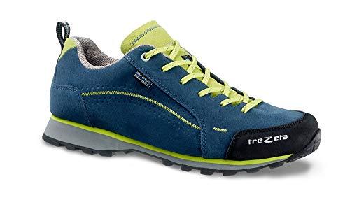 Trezeta Flow WP Chaussures de randonnée pour homme en cuir et fond Vibram - - Blue Green, 39 EU EU