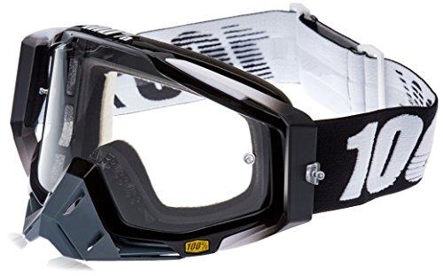 100% RACECRAFT Brille Abyss - klar Linse, Schwarz , Größe One Size