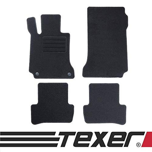 CARMAT TEXER Textil Fußmatten Passend für Mercedes-Benz C-Klasse W204 Bj. 2007-2014 Basic