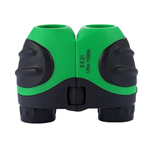 Luwint 8x 21Rojo Niños Prismáticos para la Observación de Aves, Ver Wildlife o Paisaje, Juego, Mini Compacto y estabilizado de Imagen, Mejores Regalos para los Niños