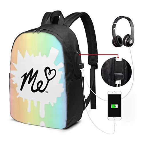PLiPLi Fashion School Bag Moriah Elizabeth Backpack 17' With USB Interface