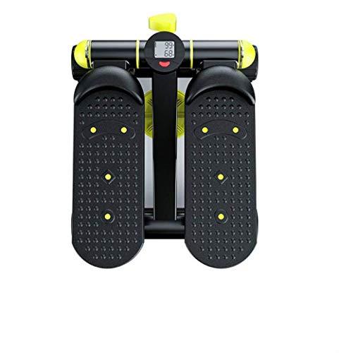 Cuidado personal Salud Stepper Máquina de ejercicios multifunción Máquina de escalada para pies Equipo de ejercicio multifunción Mini pantalla LED silenciosa hidráulica para el hogar (negro y amari
