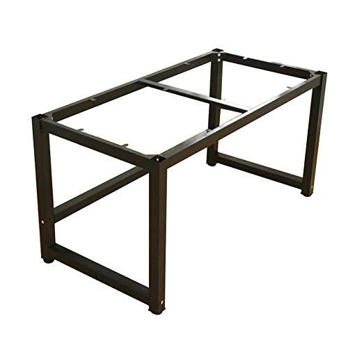 YXYXX patas industriales de mesa,Bastidores para mesa hierro Caballetes para tablero Patas de mesa Bricolaje,negro/Negro / 160×80×72cm