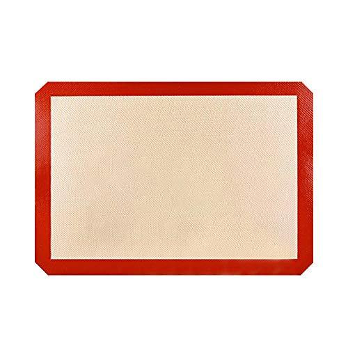 JINNAI Silikon-Backmatte, Antihaft-Backmatten (3 Stück), rutschfest, waschbar, wiederverwendbar, hitzebeständig, ungiftig, flexibel, antihaftbeschichtet, leicht zu reinigen, Backblech (30 x 21 cm)