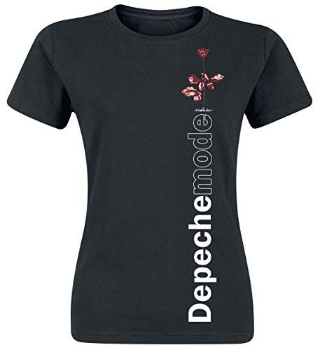 Depeche Mode Violator Side Rose Donna T-Shirt Nero S 100% Cotone Regular