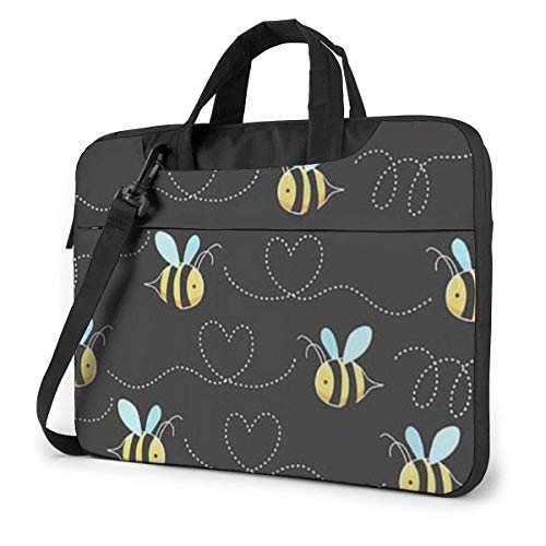 Bumble Bees Print Laptop Sleeve Case 15.6 Inch Computer Tote Bag Shoulder Messenger Briefcase for Business Travel