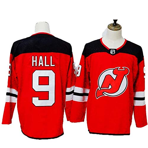 Nico Hischier # 13 / Taylor Pasillo # 9 New Jersey Devils Hockey Jersey sobre Hielo, Camiseta De Manga Larga con Capucha Transpirable Hombres/Mujeres/Jóvenes (M-XXXL)
