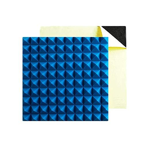 SANSHUI Schalldämmplatten Recording Studio Multimedia Projektionsraum High Density Umweltschutz Feuerbeständige Selbstklebende, Schallschutz Baumwolle 50cm * 50cm 1230 (Color : Blue)