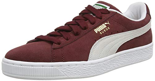 Puma - Suede Classic+ - Baskets mode - Mixte Adulte - Rouge (cabernet-white) - 45 EU