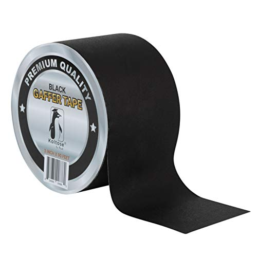 Black Gaffers Tape 3 Inches by 90 Feet Heavy-Duty Cloth Gaffer Tape – Non-Reflective, Water Resistant, Residue-Free Gaff Tape for Indoor and Outdoor Use, Versatile and Multipurpose Cloth Tape