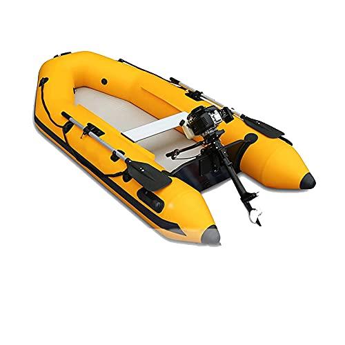 Gaoweipeng 4 Personas Kayak Hinchable, Plegable Barco De Asalto Comodidad Adulto Bote Inflable Espesar Piragua Estabilidad Canoa Barco Seguridad Balsa,2.3 Meters
