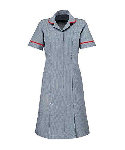 Alexandra AL-ST297L9-108S Stripe Jurk, Kort, Rood Leiding/Trim, 108 cm Borst (Maat 18), Blauw/Wit