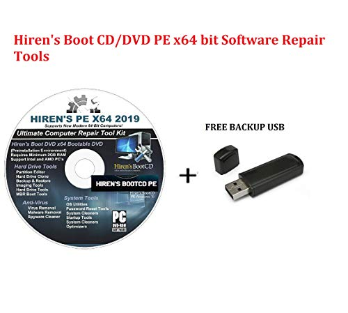 Hiren s Boot CD DVD PE x64 bit Software Repair Tools Suite 2019 latest version 16.3 Best PC Computer Repair Recovery Windows 7, 8, 8.1 and 10