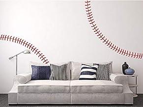 Dalxsh Giant Full Wall Baseball Stitch Vinyl Decal,Nursery Kindergarten Wall Stickers,Home Decor