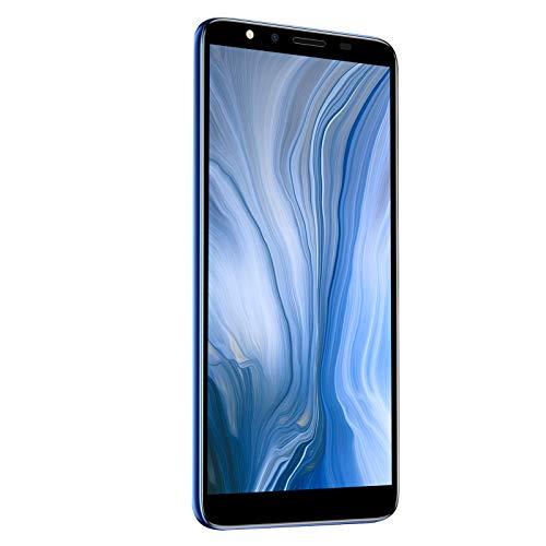 FOLOSAFENAR Ultrafino Smartphone Desbloqueado Elegante 5.72HD Teléfono Celular de Pantalla Completa 512MB + 4GB Tarjeta Dual de Doble Modo de Espera Teléfono Inteligente Android (Azul)