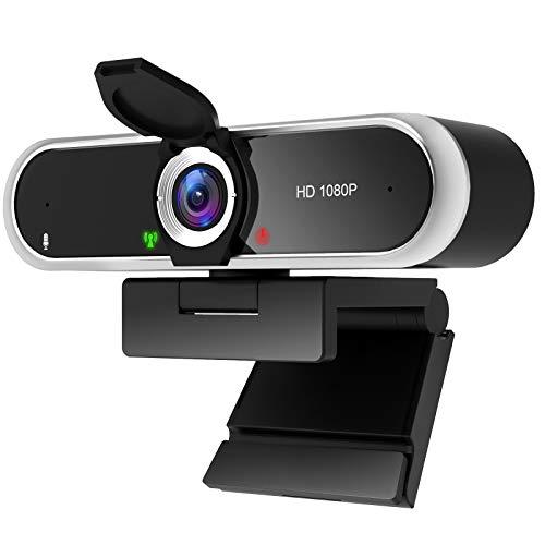 Niveoli PC Kamera 1080P mit Mikrofon und Objektivblende