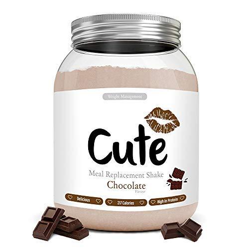 Cute Nutrition Batido de Reemplazo de Comida Sabor Chocolate para el Control de la Pérdida de Peso en Polvo Bebida Dietética para Mujer Bote de 500 g