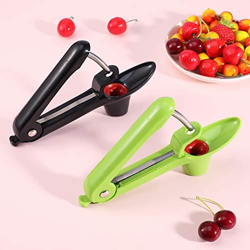 FANTESI 2 Stücke Kirsche und Oliven Pitter, Trauben und Cranberries Frucht Corer Pitter Kirschentkernen Entkerner Küchenwerkzeuge