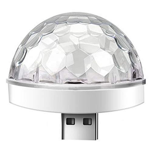 龙王 Mini luz de bola de discoteca, luces activadas por sonido de la etapa de la atmósfera del coche