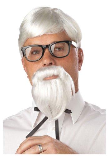 California Costumes White Colonel Wig and Moustache Standard