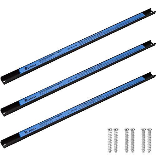 TecTake Magnetleiste Werkzeughalter | inkl. Montagematerial | geeignet für alle magnetischen Gegenstände - Diverse Modelle (3er Set 60 cm | Nr. 402860)