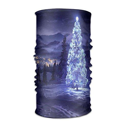 Bandanas para la cabeza, diseño de árbol de Navidad y nieve, versátil, informal, pañuelo para el cuello, pasamontañas, forro para casco de equitación, máscara para niños, mujeres y hombres al aire libre, protección UV