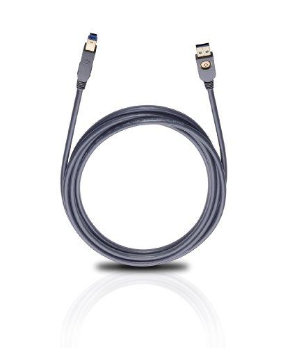 OEHLBACH USB Max A/B 3.0 High-Speed USB-Kabel 5 Gbit/s Typ A auf B - 5m schwarz