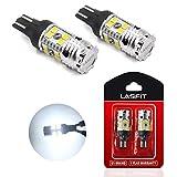 LASFIT 921 912 T15 CANBUS Error Free LED Reverse Back Up Light Bulb, White Light, New Upgrade Design,2 pack
