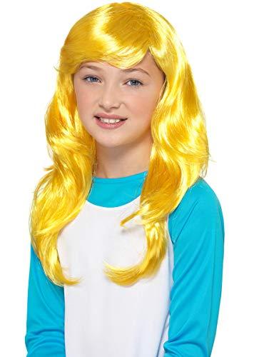 Funidelia | Parruca da Puffetta Ufficiale per Bambina ▶ The Smurfs, Cartoni Animati, I Puffi, Nano - Giallo, Accessorio per Costume
