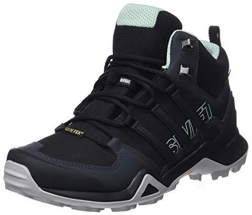 adidas Damen TERREX Swift R2 Mid GTX Trekking- & Wanderhalbschuhe, Schwarz (Core Black/Core Black/Ash Green S18), 38 EU