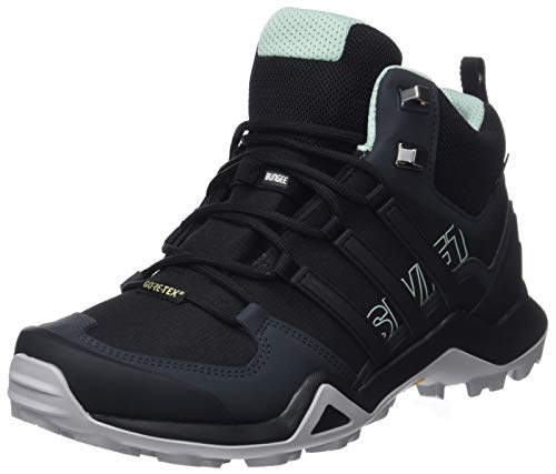adidas Terrex Swift R2 Mid GTX W, Zapatillas de Cross para Mujer, Negro (Core Black/Core Black/Ash Green 0), 45 1/3 EU