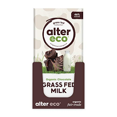 Alter Eco   Single Chocolate Bars   Pure Dark Cocoa, Fair Trade, Organic, Non-GMO, Gluten Free (Grass Fed Milk - Classic)
