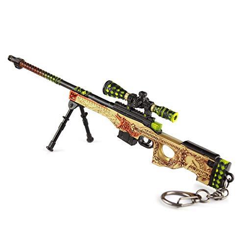 BYWL Figura de acción juego alrededor de escala 1/5 M4A1/AWP/AK47 rifle de asalto pistola de metal modelo arma juguete prop llavero regalo